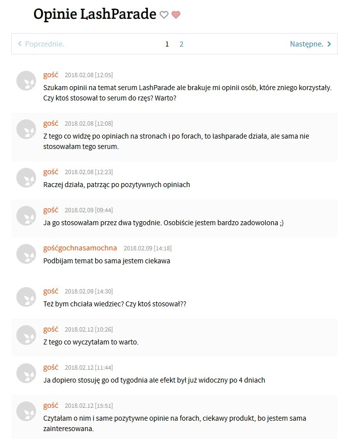 opinie na temat lashparafe z forum