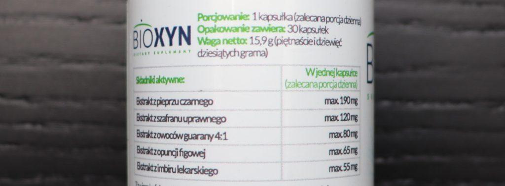 dokładny skład bioxynu etykieta