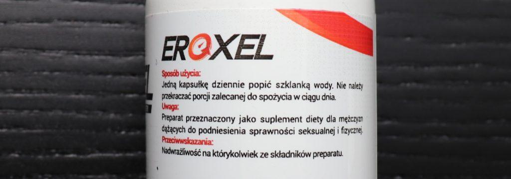 etykieta opisująca w jaki sposób stosować eroxel