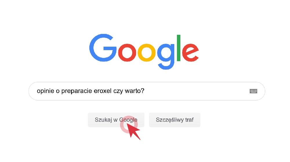 wyszukiwarka google i opinie o eroxel