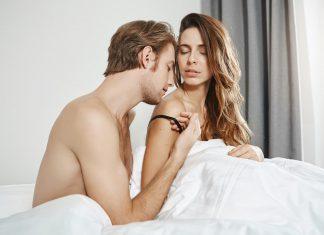 zbliżenie kobiety i mężczyzny