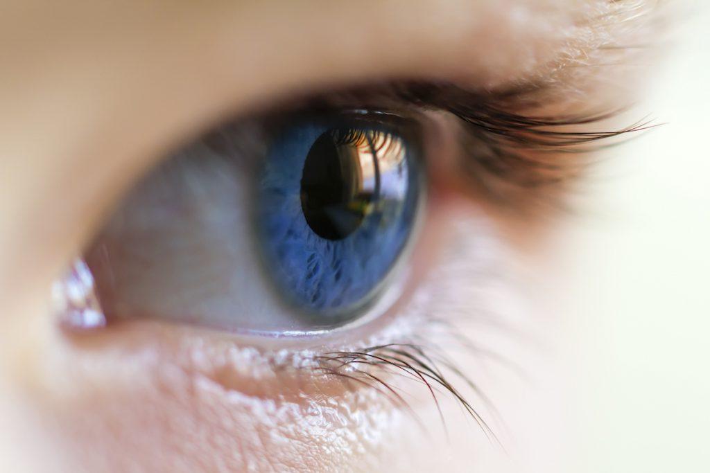 niebieskie oczy młodej osoby